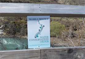 Outstanding rivers protection sign